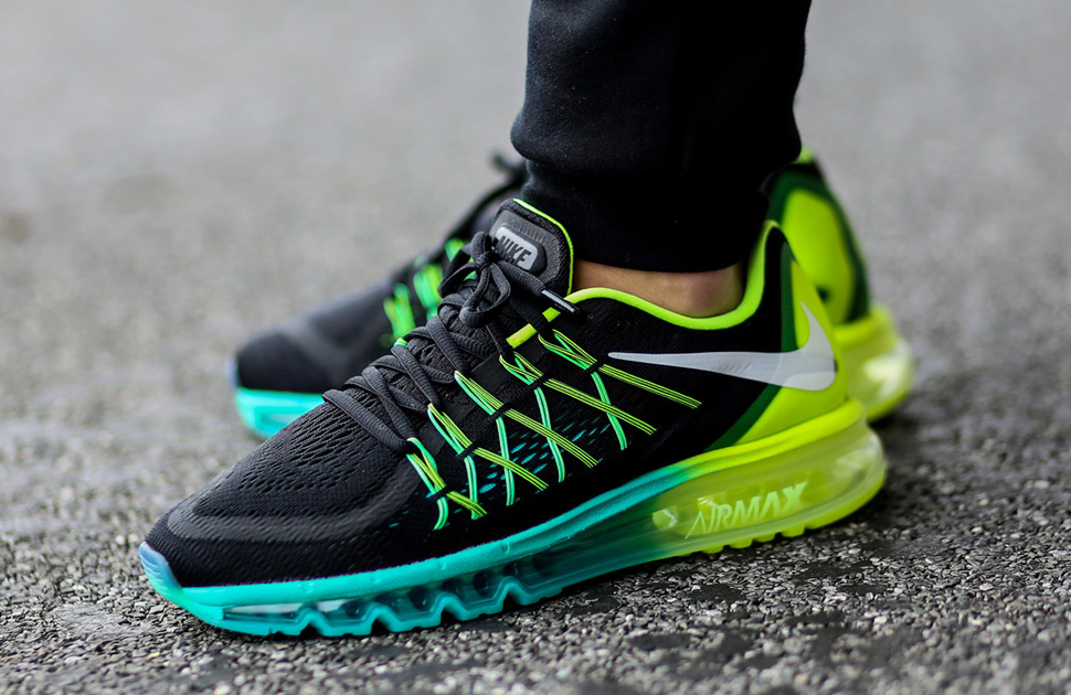 Nike Air Max 2015 Black Volt-Hyper Jade - Kicks Links 15bc5a003