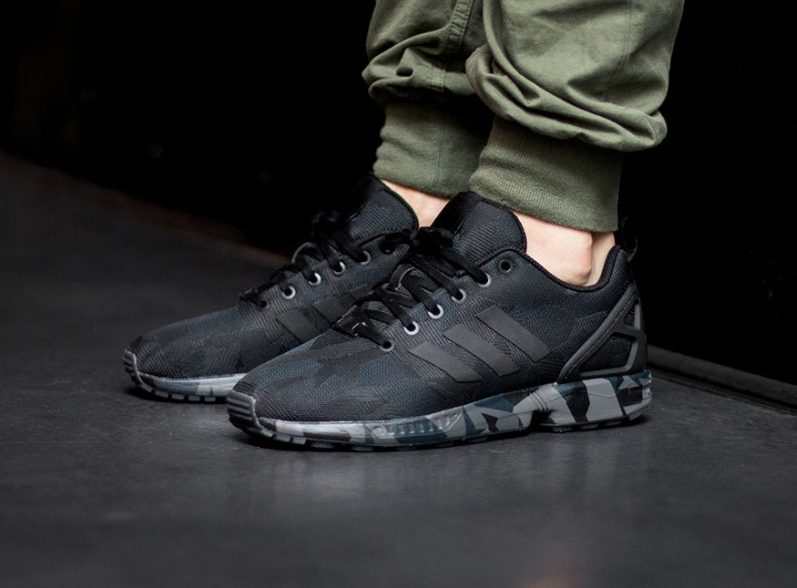 Adidas ZX Flux Black Camo Kicks Links