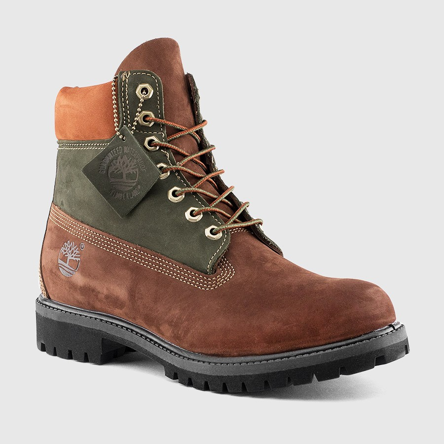 Timberland 6 Inch PRM Boot Brown/Green