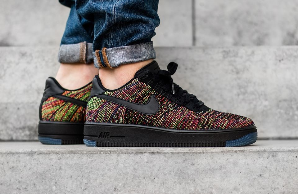 d349a319226c9 ... best price nike air force 1 flyknit low black multicolor e0f7f b1a39
