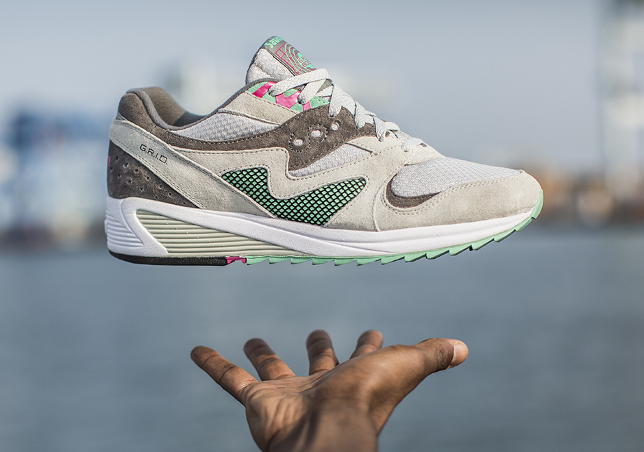 Saucony Grid 8000 CL Grey/Teal