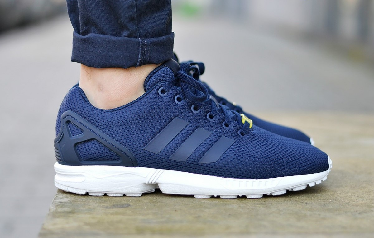 4d5d39fe0d603 Adidas ZX Flux Navy White - Kicks Links  See all condition definitions- or  a new window condition. . . Opens or. Frequently bought togetherfeedback on  ...