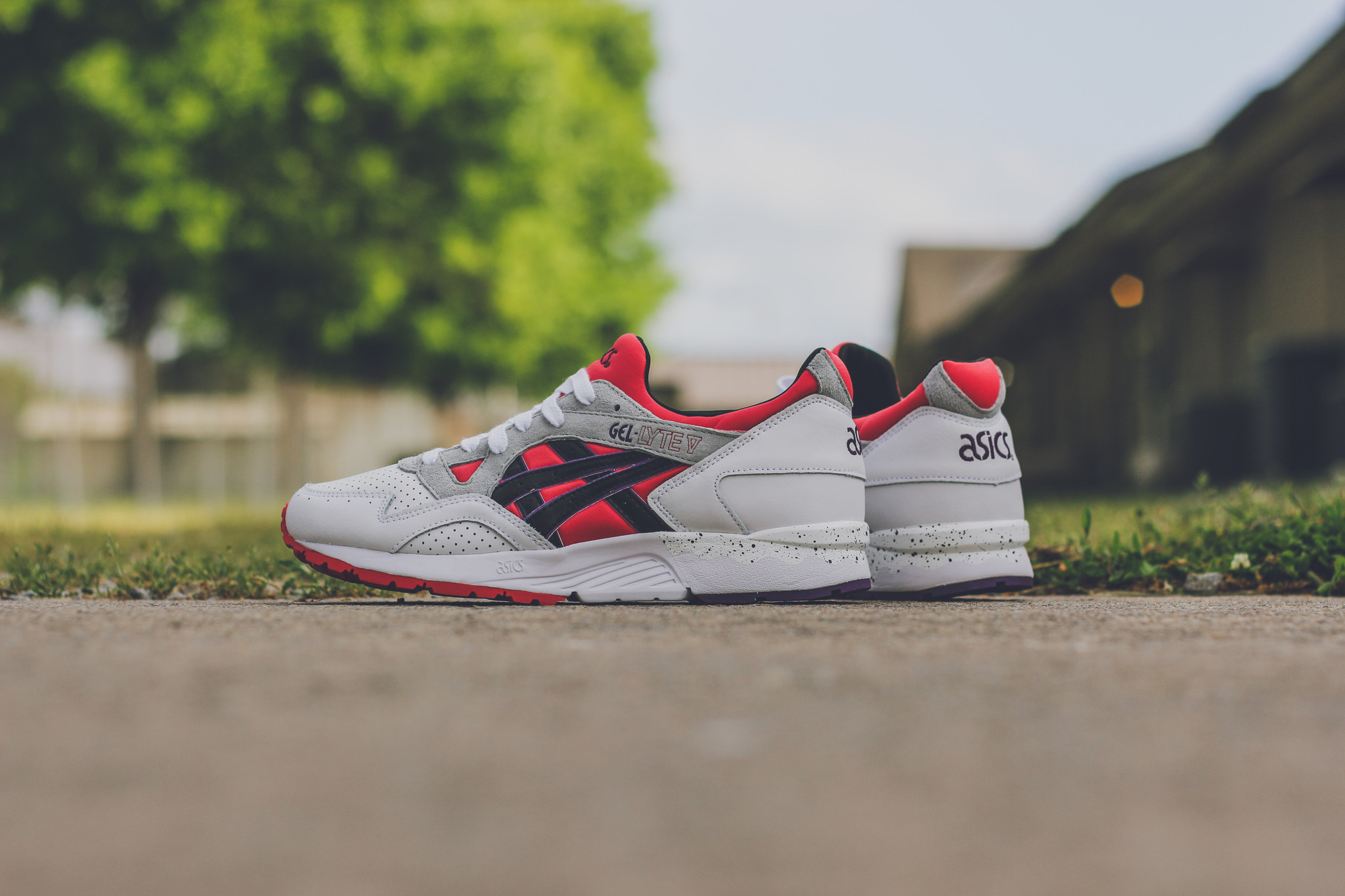 Asics Gel Lyte V Poppy Red Kicks Links