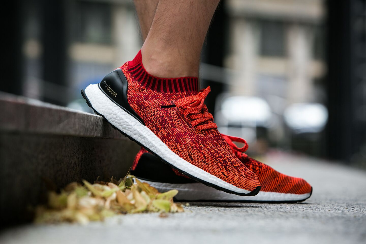 0092d78104651 Adidas Ultra Boost Uncaged Scarlet Red Restock now available via Finish Line!  Don t miss out on this great colorway. Link available below.