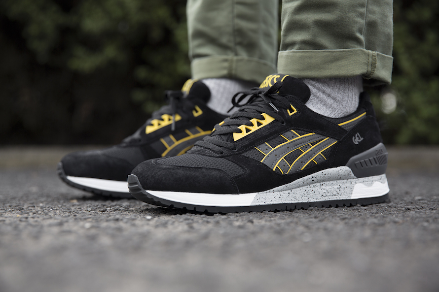 a8646c2fdf25 Asics Gel Respector Black Yellow - Kicks Links