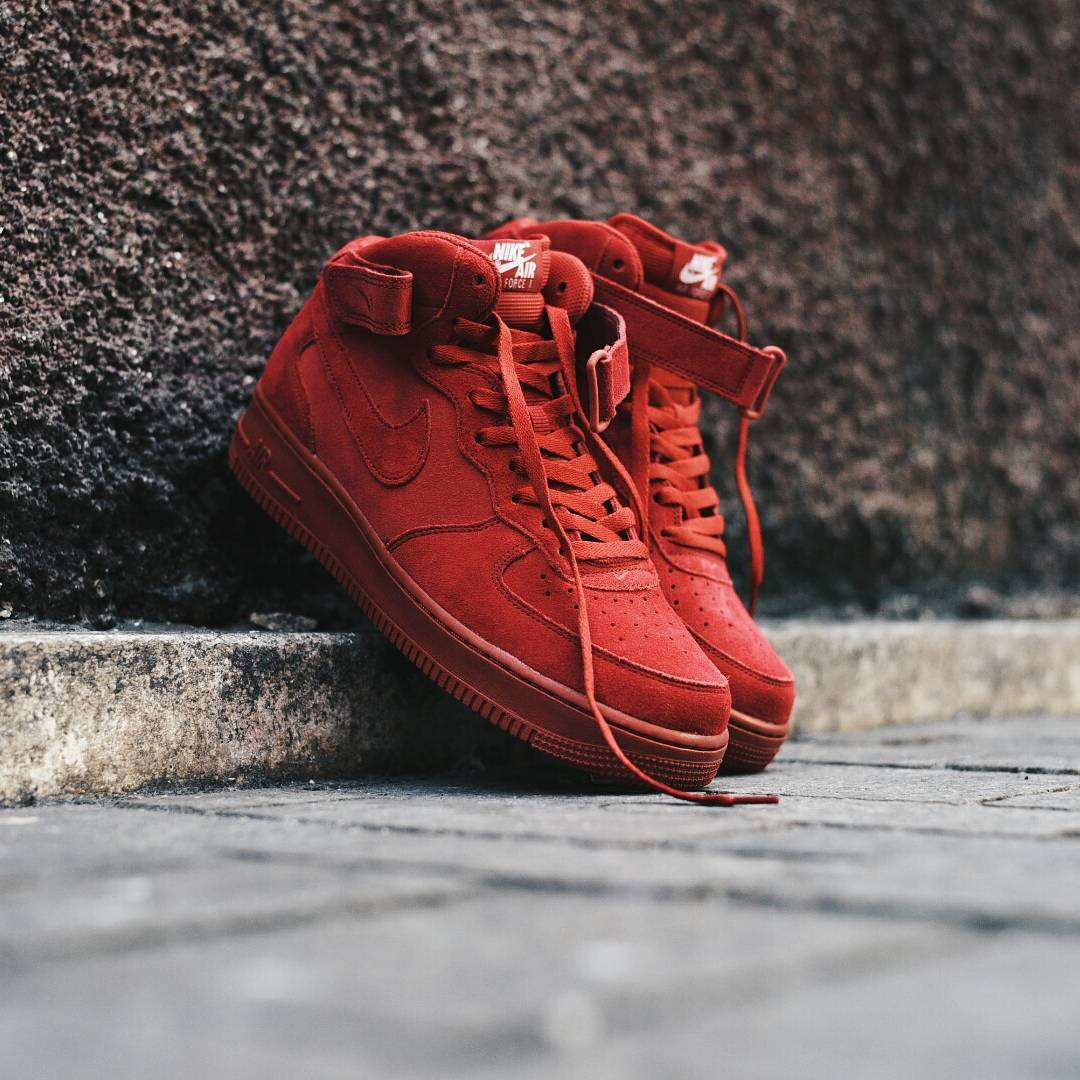 Nike Air Force 1 Mid 07 Gym Red Kicks Links