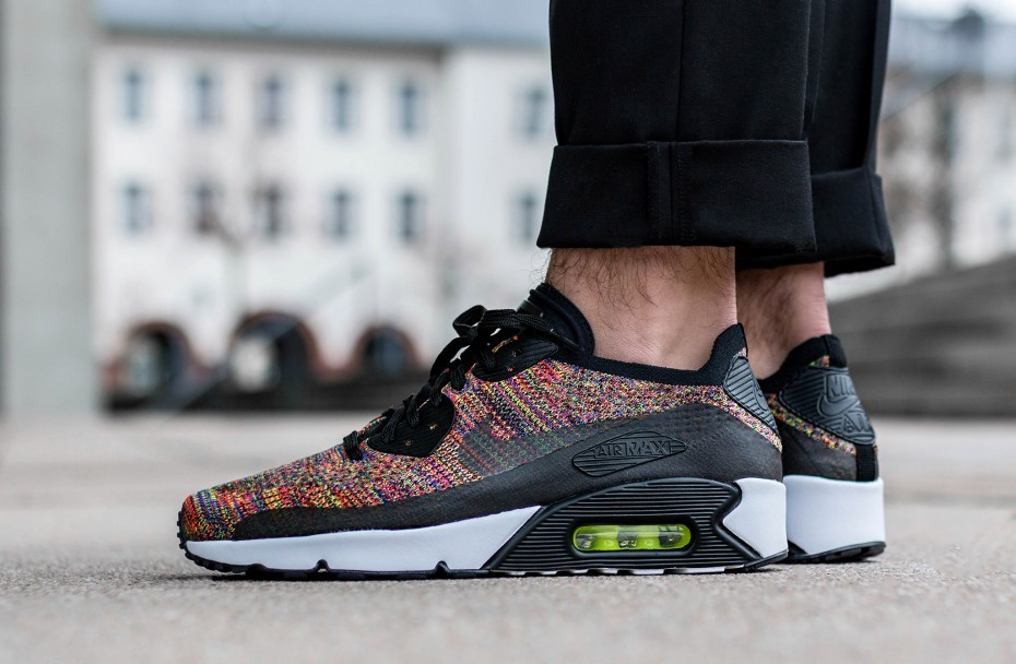 new style a7d4a 6dac2 Nike Air Max 90 Ultra 2.0 Flyknit Multicolor