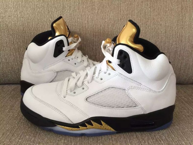 "best authentic 23b62 e973c Detailed Look at the Air Jordan 5 ""Olympic Gold Medal"""