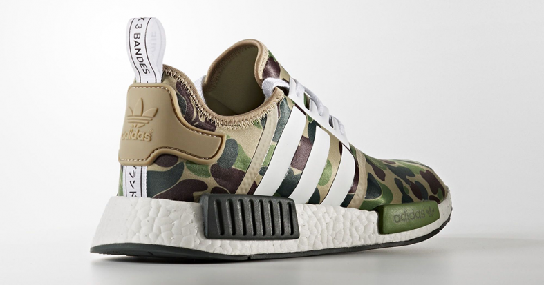 3c677adb6c77d BAPE x Adidas NMD R1 Green Camo Release Links - Kicks Links
